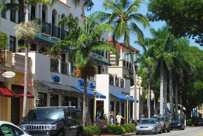 Street view from Naples, Florida
