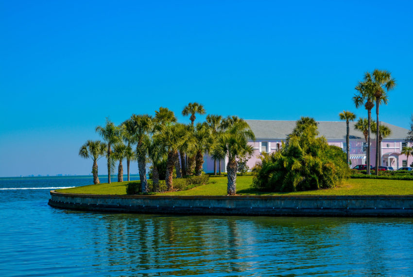 beautiful tampa bay home seated right on the bay.